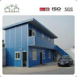 Casa de ciudad modular prefabricada del marco de acero de la luz del emparedado del precio de fábrica