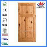 Porte en bois de dispositif trembleur de porte de teck en bois indien de modèle double