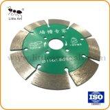 La pequeña hoja de sierra de disco de corte de diamante para pared