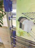 Forti vestiti pieganti dell'acciaio inossidabile che asciugano cremagliera/essiccatore di vestiti