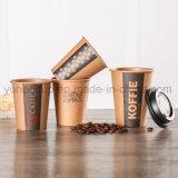 8 унции одноразовые коричневый крафт-бумаги или чашка для горячего кофе питьевой