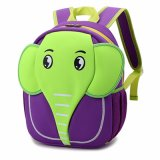 Sac d'école fonctionnel de petit enfant de forme animale d'éléphant
