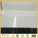 Pietra artificiale bianca artificiale del quarzo per i controsoffitti della cucina
