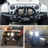 96W 185W 9개 인치 차 자동 장비 도로 4WD 4X4 SUV ATV 반점 플러드 떨어져 기관자전차 트랙터 배를 위한 둥근 크리 사람 LED 모는 빛 Offroad 일 램프