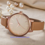 숙녀 (WY-17008D)를 위한 주문 로고 여자 석영 시계 형식 손목 시계