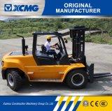 XCMG 6 Tonnen-Dieselgabelstapler mit vollem freiem breitem Mast der Ansicht-3-Stage für Verkauf