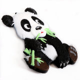 Lembrança de borracha macia do ímã do refrigerador do PVC da forma da panda