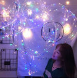 クリスマスのバレンタイン党LED照明ヘリウムの透過気球