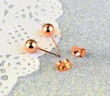 Простая конструкция шпильки крепления серьги моды Cute закрывается Gold бобы серьги для женщин изысканные титана стальные украшения Новогодние подарки