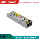 alimentazione elettrica di 12V 5A LED con le Htn-Serie della Banca dei Regolamenti Internazionali di RoHS del Ce
