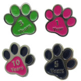 Hot Sale Paw façonné Glitter ID Pet Dog Tag
