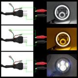 지프를 위한 7 인치 LED 헤드라이트를 달리는 고/저 광속 주황색 DRL 주간