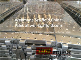 Marco europeo andamio de acero de la plataforma de trabajo de acero de la plataforma/tablón