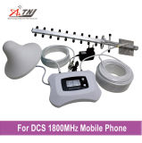 Repetidor móvil de la señal del teléfono celular del aumentador de presión de la señal de DCS 1800MHz de la antena del Yagi + de la antena del techo