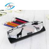 La cassa di matita animale del giardino zoologico della natura scherza il sacchetto della penna