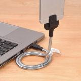 Fuerte y duradera puede ser ajustado doblando el cable de datos USB flexible para Android