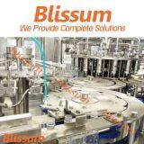 Glasflaschen-Saft-Plombe und Verpackungsfließband