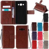 Couro de Fábrica Celular Slot para cartão de luxo Casos de telefone para a Samsung