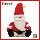 Stuk speelgoed van de Pluche van de Sneeuwman van de Gift van Kerstmis van de kerstman het Zachte Gevulde met de Hoed van Kerstmis