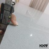 Marbre artificiel de quartz du gris 20mm de lumière des étoiles pour la cuisine réglée (Q171130)