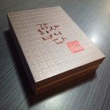 Boîte faite sur commande gravante en relief estampée chaude en gros à vin de logo