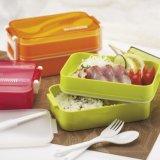 Bento Kasten-Nahrungsmittelbehälter-Plastikmittagessen-Kasten mit Gabel und Löffel 20015