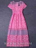 Abend-Kleider der Form-Dame-Red Lace Tulle