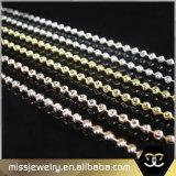 Oro/encadenamiento de plata del acero inoxidable del encadenamiento del grano del encadenamiento de la bola del tono