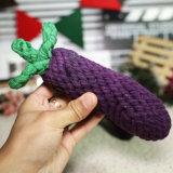 Süßigkeit-Farben-Baumwolseil-neues Art-Aubergine-Kauen-Hundespielzeug