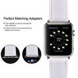 Venda a quente elegante unissexo faixa de relógio em pele genuína com fivela para vigilância da Apple