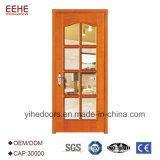 Porta de madeira interior de vidro do quarto do projeto o mais atrasado meia