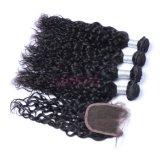 上の販売のペルーの自然な波のバージンの毛のよこ糸