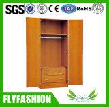 Schlafzimmer-Möbel-einfache zwei Tür-hölzerne Schlafzimmer-Garderobe für Großverkauf