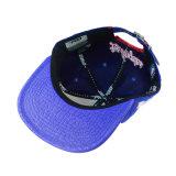 Голубые PU цвета & крышка хлопка с вышивкой 3D