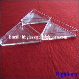 Heet verkoop de Transparante Driehoekige Container van het Glas van het Kwarts van het Kiezelzuur