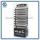 Настроенные на заводе Floor-Standing металлической проволоки лак для ногтей дисплей для установки в стойку