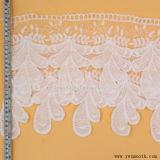 Occhiello elastico di modo che lavora a maglia gli accessori decorativi del tessuto di cotone del nastro del merletto