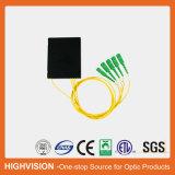 divisor óptico del PLC del ABS-Rectángulo de fibra 1X4