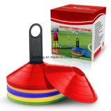 プラスチックホールダーが付いているフットボールのサッカーの敏捷ディスク円錐形