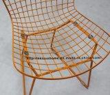 標準的なレストランの椅子を食事する屋外の家具の金属線