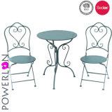 高品質の鉄のビストロは表および椅子とセットした