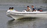Barco inflável rígido do reforço do barco de pesca da fibra de vidro pequena de Liya 4.3m
