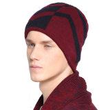 Unisexstreifen-Wolle-überprüfter Drucken gestrickter Winterwarme Beanies-starker Acrylhut der Mens-Frauen (HW420)