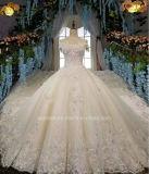 Aoliweiya Hall Tules e vestidos de casamento acetinado
