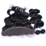 二重Weftマレーシアの毛ボディ波のバージンの毛の束