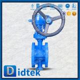 Фланец Didtek кончает клапан-бабочку вафли теплого триппеля шестерни смещенную