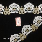 lacet de métier de 5cm, lacet indien d'or, cadre de broderie, lacet de métier, cadre de Saree, lacet tribal de Boho, garniture brodée Hme856