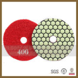 Tampon de polissage à sec de diamant pour l'étage d'une meuleuse (S-DPP-1012)