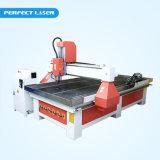 Ranurador del CNC para el acrílico de madera de la tarjeta del color del PVC de la madera contrachapada