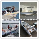Opblaasbare Boot van de Glasvezel van Hull van het Jacht van de Luxe van China van Liya 22FT de Stijve